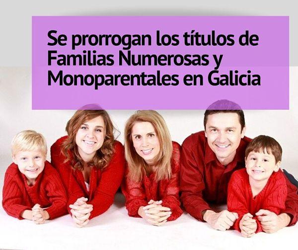 Se prorroga la vigencia de Los títulos de familia numerosa y monoparental