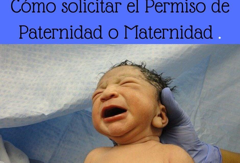Solicitud de la prestación de paternidad y maternidad en estado de alarma