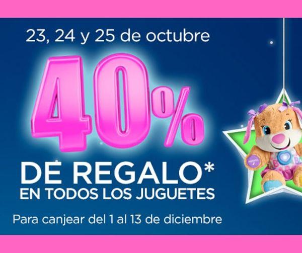 Descuento del 40% en juguetes este fin de semana en Hipercor