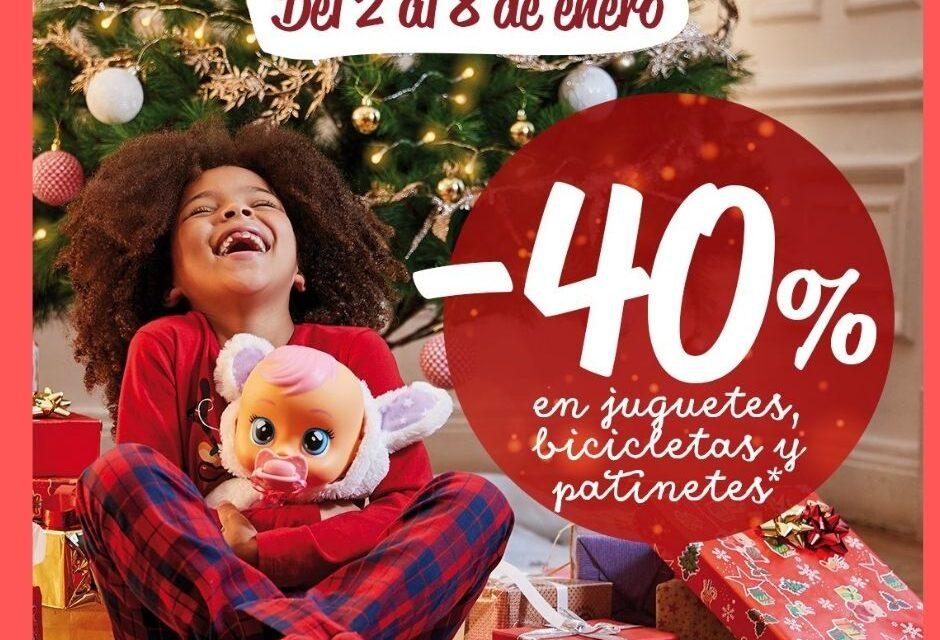 Carrefour: descuentos del 40% en juguetes y bicicletas