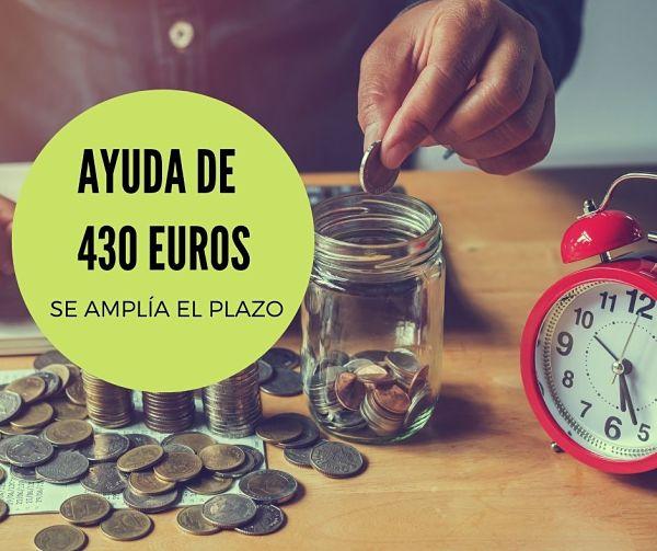 Ayuda de 430 euros: nuevos plazos y cómo solicitarla