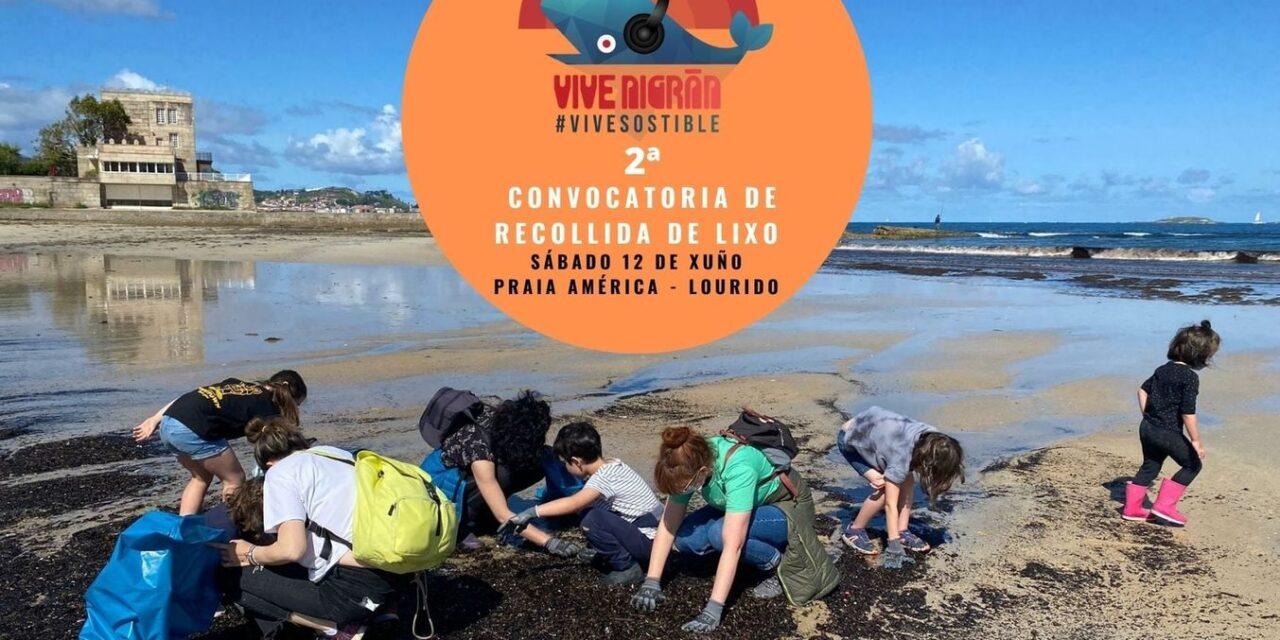 Jornada artística y de limpieza en Playa América